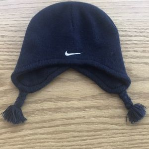 Nike Infant Navy Beanie with Braids Navy